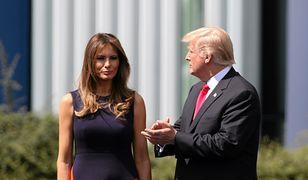 Donald Trump z Pierwszą Damą w Warszawie