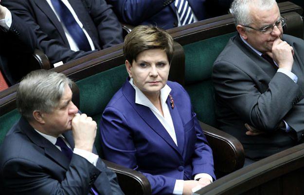 Beata Szydło podczas pierwszego posiedzenia Sejmu VIII kadencji