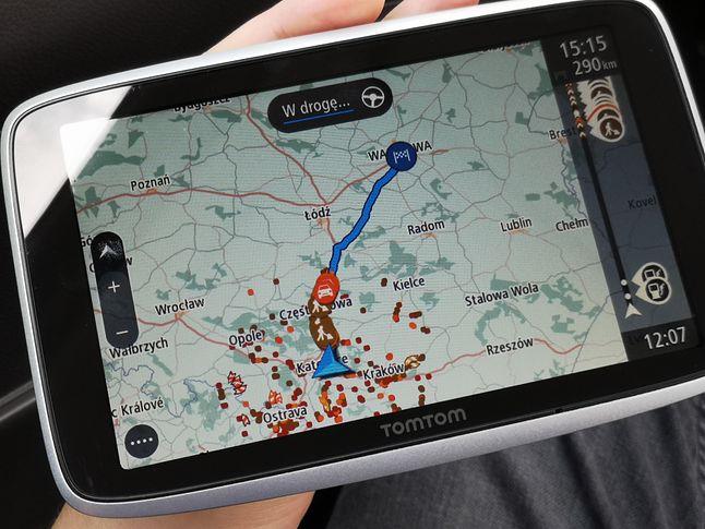 Planowanie trasy z centrum Katowic do Warszawy.