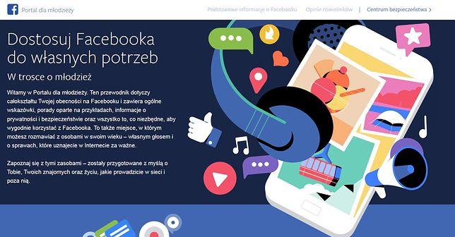 Facebook wystartował z portalem dla młodzieży