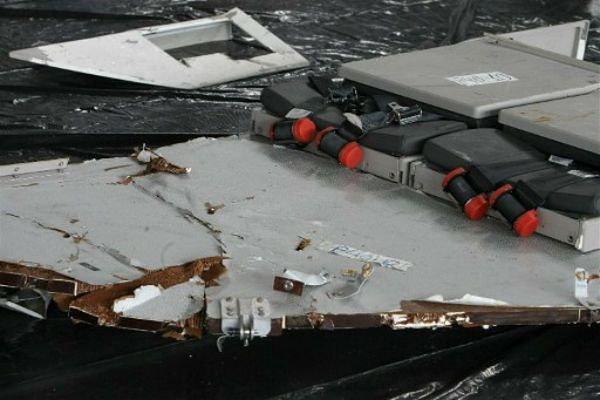 Jedne z pierwszych części samolotu Air France 447 znalezione w oceanie