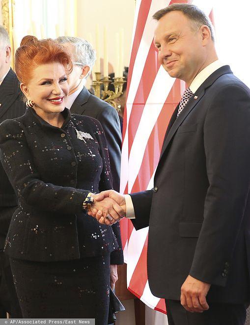 Wizy do USA dla Polaków zostaną zniesione w listopadzie. Georgette Mosbacher i Andrzej Duda.