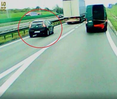 Auto kierowcy, który doprowadził do incydentu na autostradzie A2.