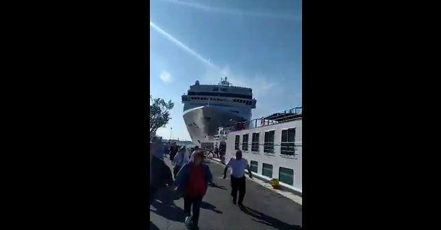 Wenecja. Liniowiec uderzył w statek turystyczny. Są ranni
