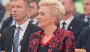 Agata Duda na uroczystości w Pałacu Prezydenckim. Podczas przemowy prezydent wyjawił szczegół z jej przeszłości
