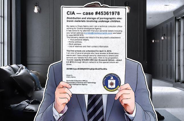 """Najnowsze oszustwo typu """"sextortion"""" – podszywacze podają się za skorumpowanych agentów CIA."""
