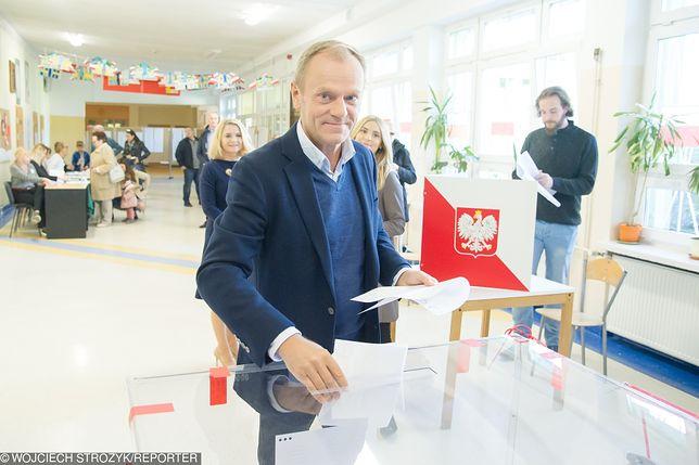 Są sondażowe wyniki wyborów. I już komentarz Donalda Tuska