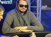 Marcin Wydrowski w trakcie finałowej rozgrywki w World Poker Tour w czeskiej Pradze.