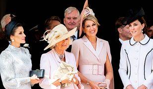 Od lewej: Królowa Hiszpanii Letizia, Camilla, Królowa Niderlandów Maksyma i Księżna Kate