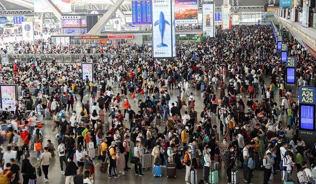 Lotnisko w Kantonie w Chinach