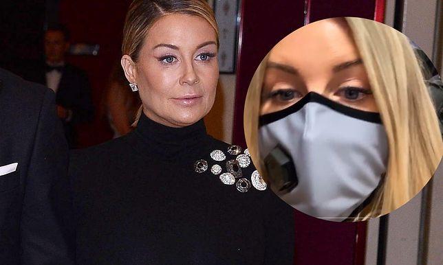 Ciężarna Małgorzata Rozenek-Majdan w masce. Chroni się przed koronawirusem