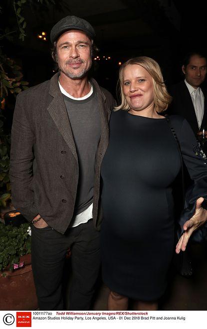 Joanna Kulig w Los Angeles. Na zdjęciu pozuje z Bradem Pittem