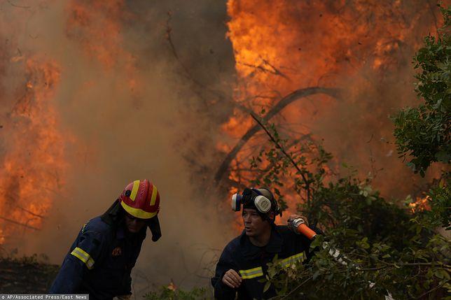 Pożary spustoszyły Grecję, zmuszając do porzucenia swoich domostw tysiące ludzi