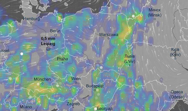 Opady deszczu będą występować w przeważającej części kraju. W niektórych miejscach spadnie grad