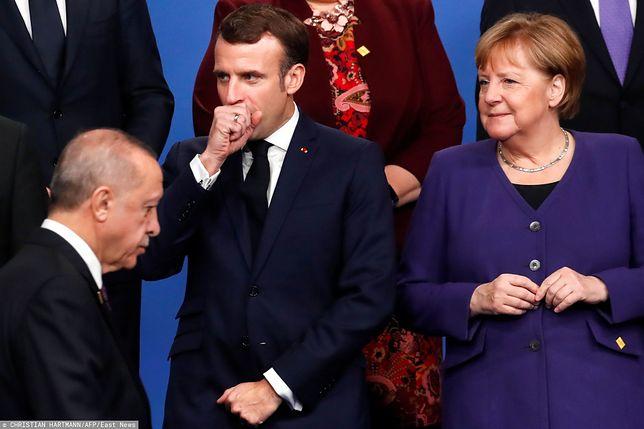 Recep Erdogan i Emmanuel Macron podczas szczytu NATO w Londynie