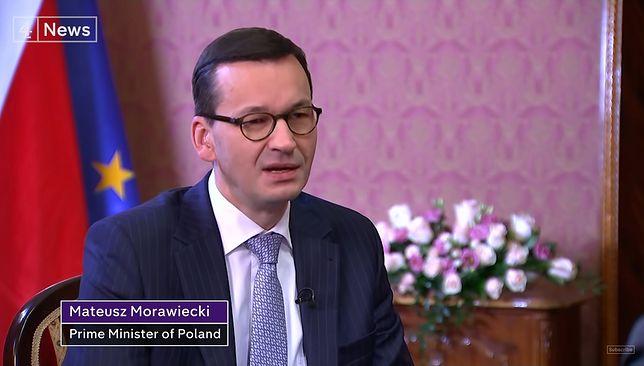 Mateusz Morawiecki udziela wywiadu Channel 4 News