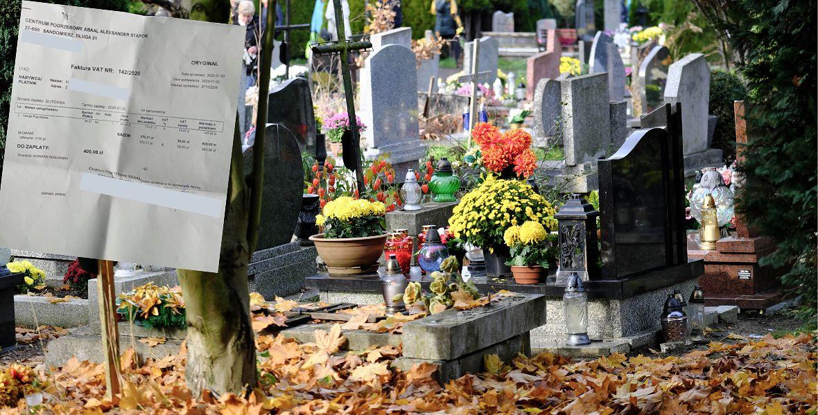 Proboszcz polecał firmę, pan Karol wybrał inną. Musiał zapłacić za wjazd na cmentarz