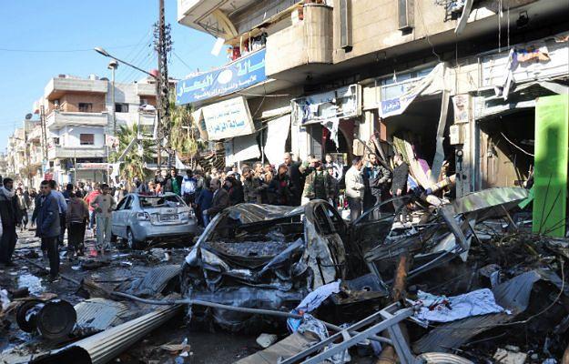 Do eksplozji samochodu pułapki i zamachu samobójczego doszło w dzielnicy Zahra