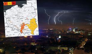 Pogoda. Ostrzeżenia trzeciego stopnia. Burze w wielu regionach Polski