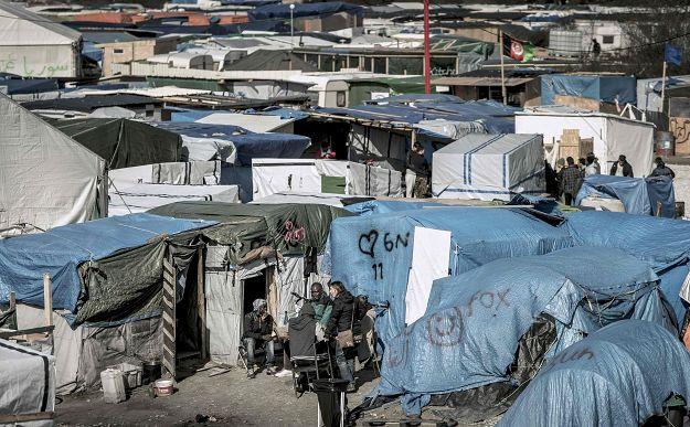 """Nieistniejący już obóz dla uchodźców """"dżungla"""""""