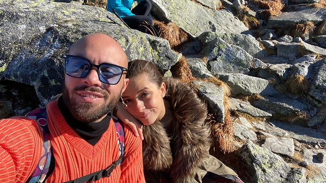 Stefano i Magdalena podczas wyprawy w góry