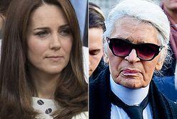 Księżna Kate miała zatarg z Lagerfeldem. Nie nosi nic od Chanel