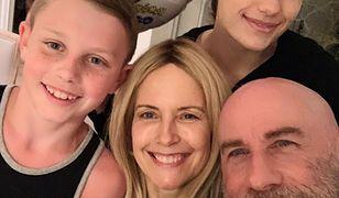 Kelly Preston i John Travolta z dziećmi
