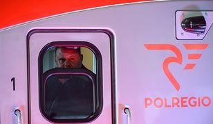 Pociąg Polregio, czyli regionalnego przewoźnika w Polsce.