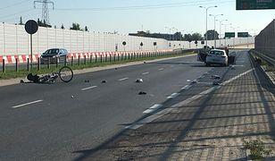 Wypadek pod Warszawą w miejscowości Reguły