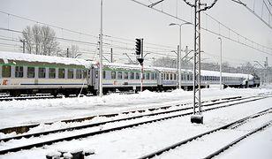 Pociąg na rzeszowskim dworcu