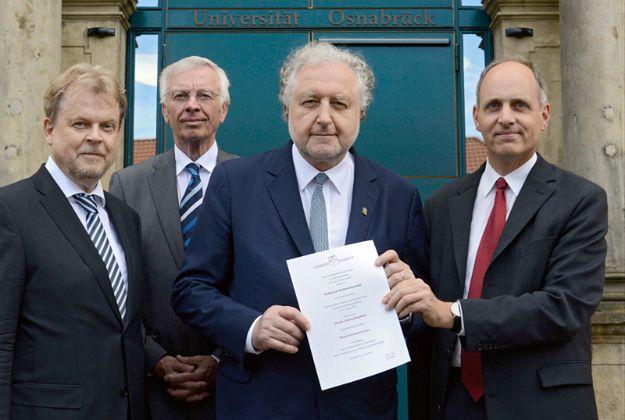 Prezes Trybunału Konstytucyjnego Andrzej Rzepliński, odbierając tytuł doktora honoris causa Wydziału Prawa Uniwersytetu w Osnabruecku