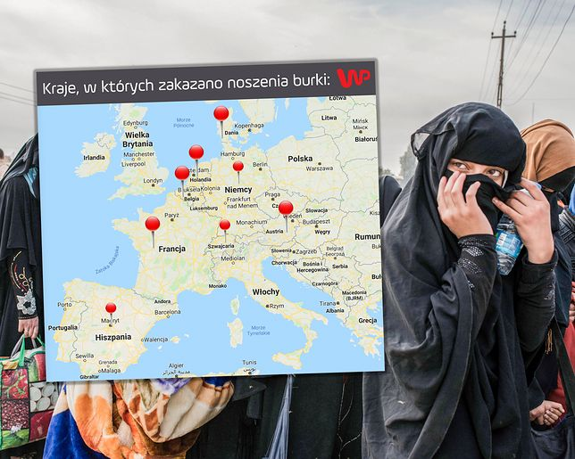 Noszenie burek i nikabów w miejscach publicznych zakazane jest w kilku krajach UE