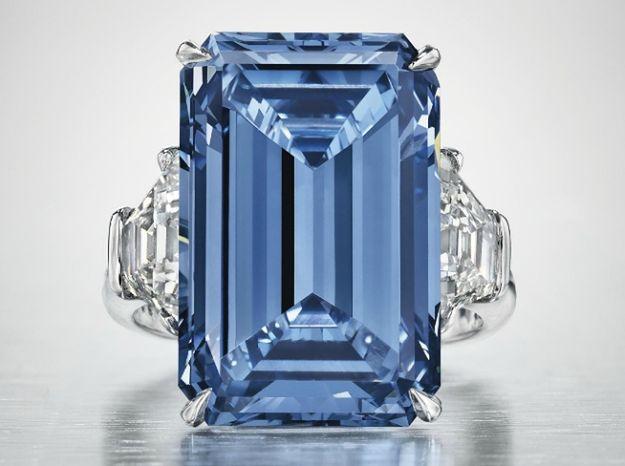 Diament Oppenheimer Blue wystawiony na aukcji w Christie''s