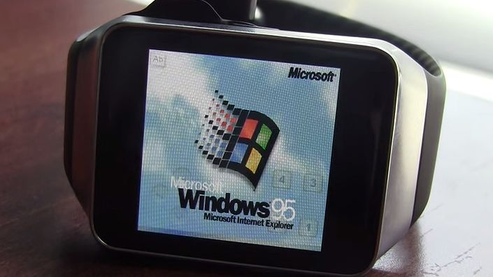 Zegarki dość mocne, by uruchomić Windows 95