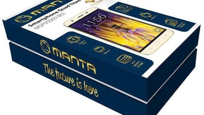 Manta Quad Titan MSP95009 Bee: złoty smartfon za 349 zł #prasówka