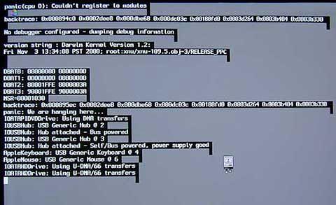 """""""kernel panic"""" w Mac OS X 10.0 i 10.1, Geoff Myers, Flickr"""
