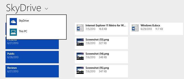SkyDrive, Windows 8.1