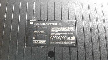 PowerBook 170 - spojrzenie do wnętrza