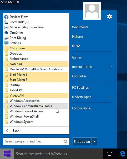A może w ten sposób? Start Menu 8 w Windows 10