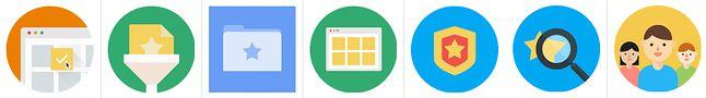 Tak miałyby wyglądać ikony różnych funkcji Google Stars