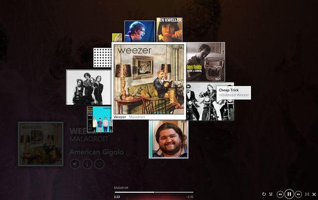Mixview w oprogramowaniu Microsoft Zune