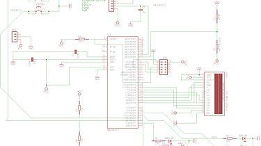 AVR: pomiar temperatury i wilgotności - Schemat układu
