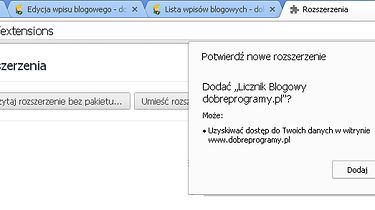 Licznik Blogowy - wtyczka do Chrome/Opery/Firefoxa dla każdego Blogera portalu [aktualizacja 08.04.14 (nowe funkcjonalności)] 0.6 - Instalacja wtyczki do Chroma