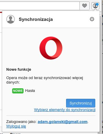 Synchronizacja w Operze: tyle trzeba było czekać na synchronizację haseł?