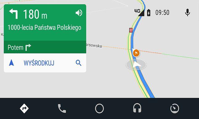 Informacje o fotoradarach trafiły także do Androida Auto, jeszcze przed modernizacją interfejsu w drugiej połowie 2019 roku.