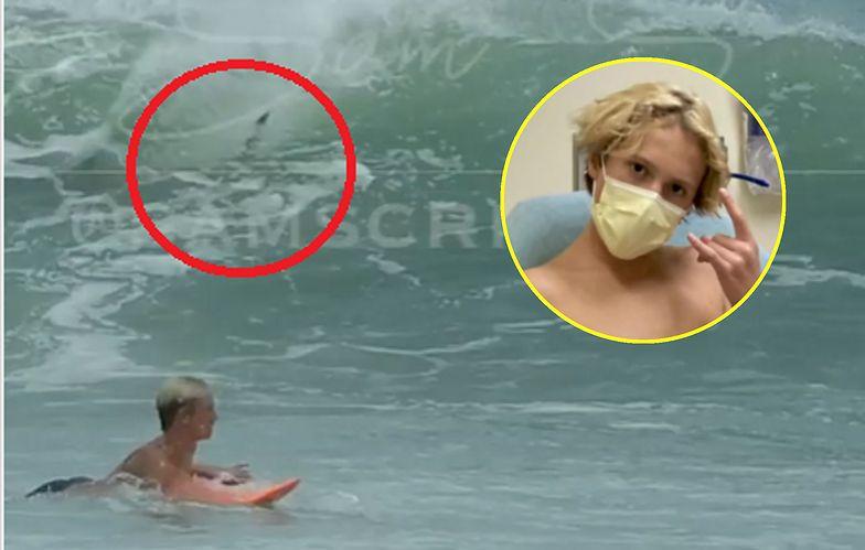 Nagranie ataku rekina. Mocne wideo z nastolatkiem trafiło sieci