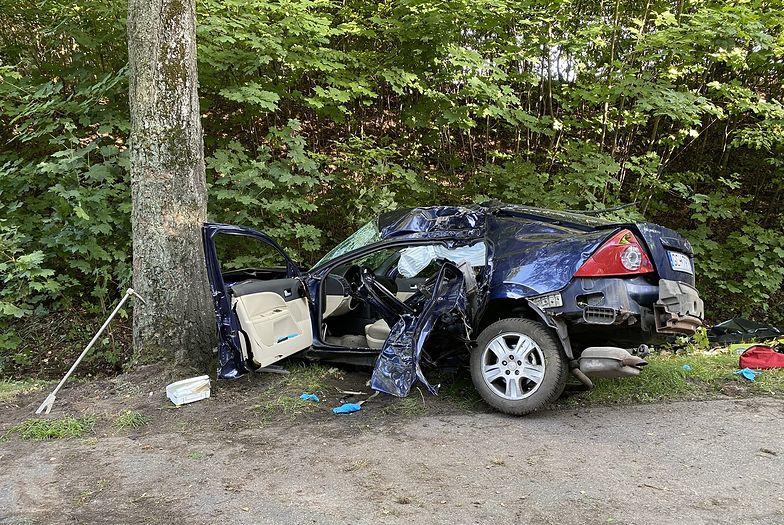 Koszmar pod Lęborkiem. 18-letni kierowca dopiero co zdał na prawo jazdy