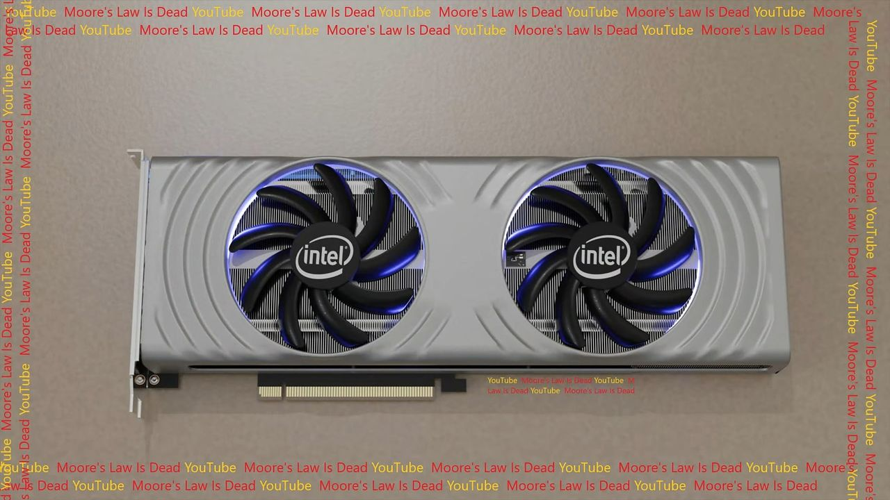 Nowe karty Intel ARC z serii Alchemist. Render karty pokazany - Intel ARC