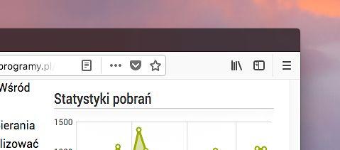 Po prawej stronie omniboksa znajdują się przyciski, którymi uruchomić można tryb czytania, wyświetlić menu udostępniania i zrzutów, dodać stronę do Pocket oraz do zakładek.