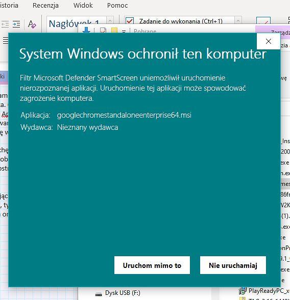 SmartScreen nie ufa instalatorowi MSI...